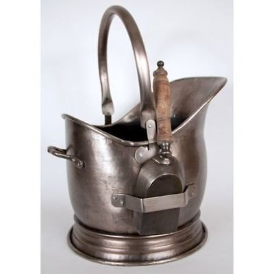 Coal Bucket With Shovel in an Antique Pewter Finish