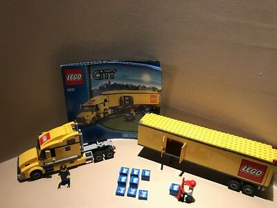 Lego City 3221 Semi Tractor Trailor Truck Complete With Manual And