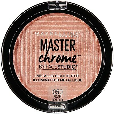 (1) Maybelline Master Chrome Metallic Highlighter, 050 Molten Rose Gold!