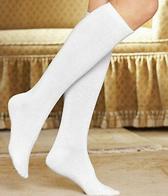 3-Pack Buster Brown Cotton Knee High Comfortable Non-Binding Tailored Socks