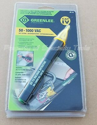 Greenlee GT-12 non-contact AC self testing voltage detector 50-1000V NEW