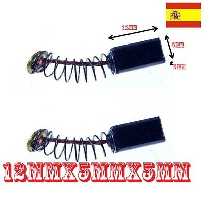 2x Escobillas de carbón Mini Taladro Variable Speed Dremel 12mm x 5mm x 5mm  118