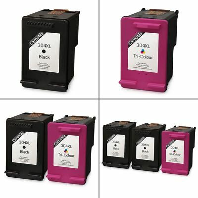 HP 304XL Black & Colour Ink Cartridges - Remanufactured for use with HP Printers