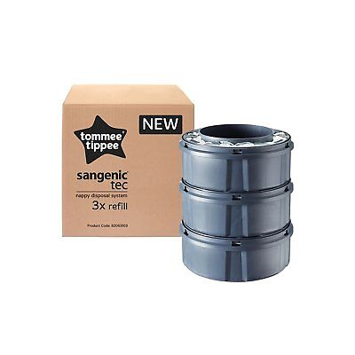 Sangenic Tommee Tippee 3Pk Nappy Bin Disposal Refill Cassettes Closer To Nature