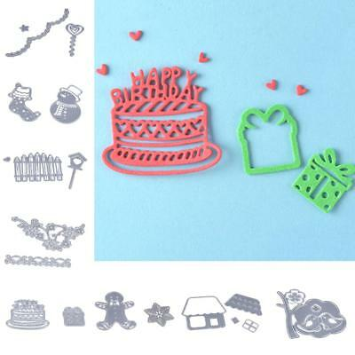 8 Style Metal Cutting Dies Stencil for Scrapbook Album Paper Embossing Craft