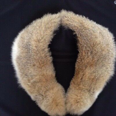 Authentic Real Natural Fur Collar 35 Inches Excellent 1969 Properly Stored