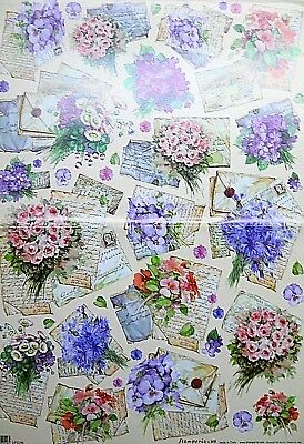 CARTE DA DECOUPAGE STAMPERIA - LOTTO 24 SOGGETTI 50 X 70 cm € 0,60 cadauna