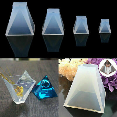 US 4-Size Pyramid Silicone Mould DIY Resin Decorative Craft Jewelry Making Molds
