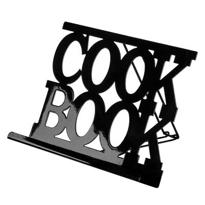 Cook Book Stand Black Enamel Kitchen Recipe Display Holder Reading Rest
