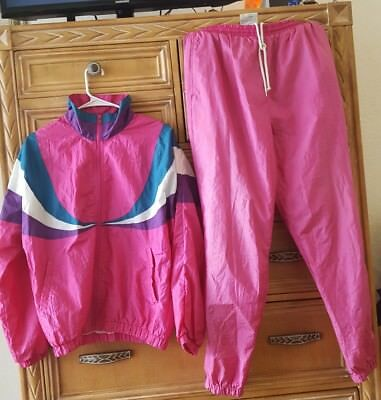 Vintage 80's Womens M Color Block Tracksuit By Westside Connection NICE