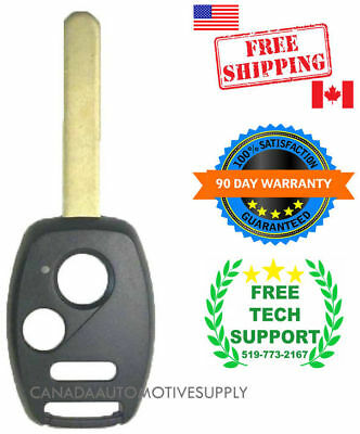 1 New Remote Head Key Shell fits Honda Accord Odyssey Civic Fit with Chip Holder