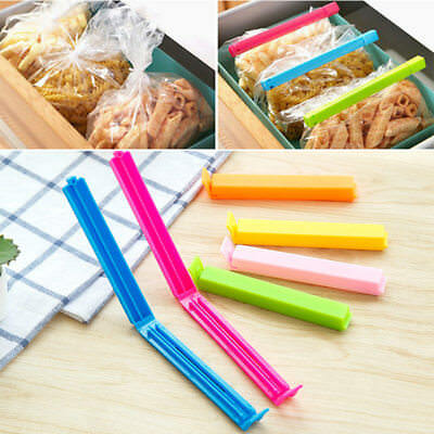 2/5/10X Kitchen Food Snack Chip Storage Bag Sealing Clips Lock Sealer Fresh Keep