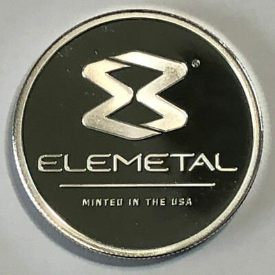 1 oz .999 Fine Silver Elemetal Mint Round Periodic Table Element 47, Ag 107.8682