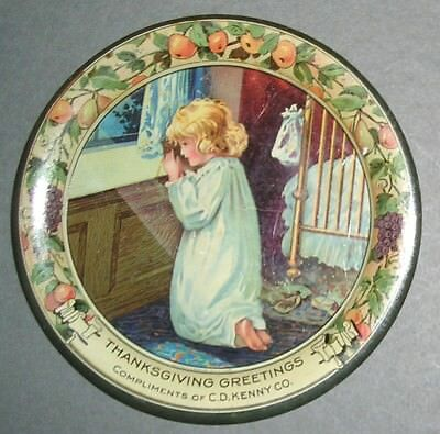 Original Thanksgiving Greetings Tip Tray From C. D. Kenny Company