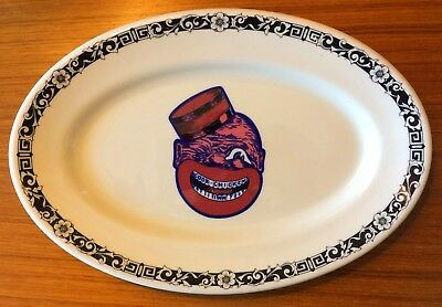 Vintage Original COON CHICKEN INN Oval-Shaped SERVING PLATTER Shenango PLATE