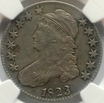 1823 NGC Capped Bust Silver Half Dollar 50C Coin AU Details Improperly Cleaned