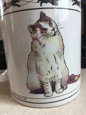 Cat Lovers Limited Coffee Mug Chartreux Turkish Van Collectable