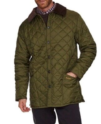 Barbour Men's Size S Liddesdale Quilted Jacket - Olive Green
