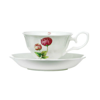 Cup and Saucer Peony 160ml Bone China Porcelain Coffee Tea Mug
