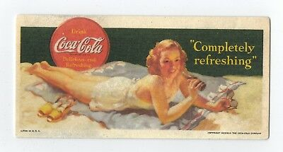 Vintage 1942 Drink Coca-Cola Delicious and Refreshing unused Blotter