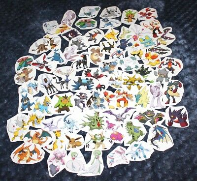 Pokemon lot of 76 loose stickers great for party gift bags