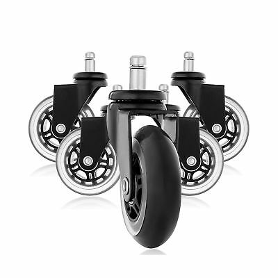 Rollerblade Style Rubber Replacement Wheels, Office Chair Caster Wheels for Y...