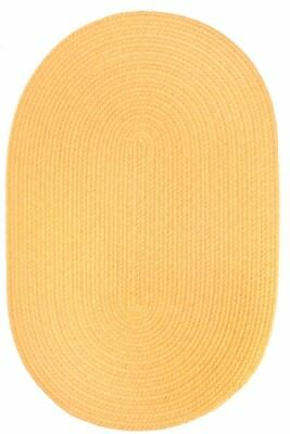 Super Area Rugs, Maui Indoor / Outdoor Solid Braied Rug in Daffodil Yellow