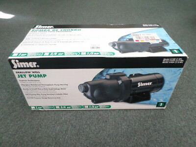 Simer 3105P 1/2HP Shallow Well Jet Pump