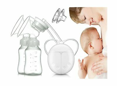 Dual Electric Breast Pump with Charge Plug and Automatic Massage for Postpart...