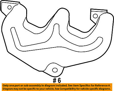 Chrysler Oem Exhaust Manifold Manifold Heat Shield 53032208ah
