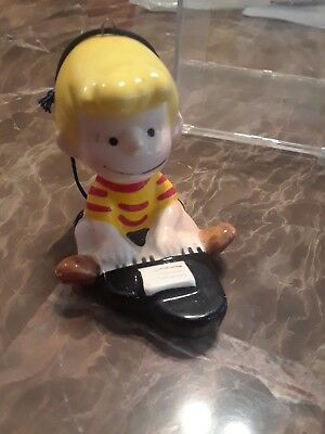 """1951 Peanuts Schroeder At the Piano Vintage 3"""" Ornament - Japan"""