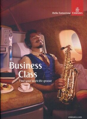 EMIRATES airline air service Business class lounge brochure DUBAI Airbus 380  ax