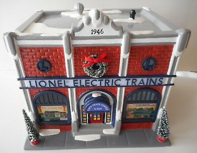 Dept 56 Snow Village Lionel Electric Train Shop New In Sealed Box Retired 1998