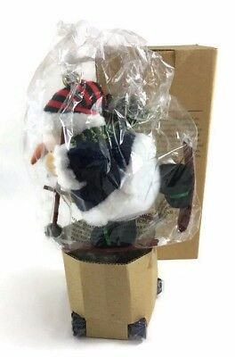 """Avon Gift Collection Christmas Bouncy Snowman 10"""" Tall With Box 2001 NEW"""