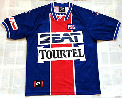 PARIS SAINT GERMAIN PSG 1994 SEAT TOURTEL NIKE HOME Shirt Jersey Maillot 1995