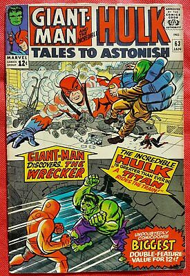 Tales to Astonish 63 Marvel Silver Age 1965 2nd app & origin of The Leader