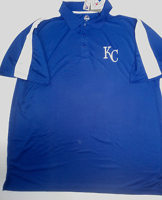 7275ab67c Kansas City Royals Majestic Dri Fit Golf Polo Shirt New Mens Size 2X 3X 4X  5X