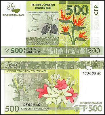 French Pacific 500 Francs Banknote, 2014, P-5, UNC