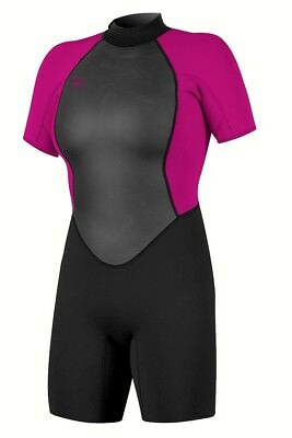 6ba3179667 O Neill Style  5043 REACTOR II Womens Back Zip Spring Wetsuit 8 Black NEW