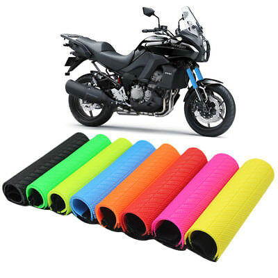 Universal Motorcycle Front Fork Cover Protector Boot Shock Guard Warp Rubber