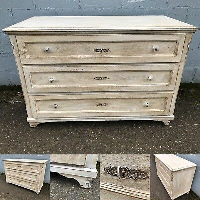 Beautiful, 19thC French Antique Chest Of Drawers, Vintage, Rare, Original Paint