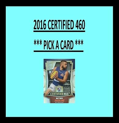 2016 Select AFL CERTIFIED 460 CARDS *** Pick your card *** C6 TO C217