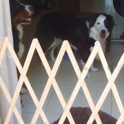 Dog Safety Gate Folding Pet Wooden Simple Portable Indoor Small Fence Barrier