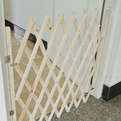 NEW Folding Safety Gate Stair For Dog Pet Isolation Gate Door Barrier Wooden 1PC
