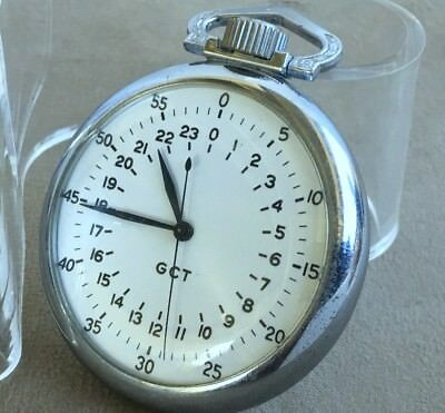 1942 WW2 Elgin GCT BW Raymond MILITARY US Army Air Corp Navigation White Enamel