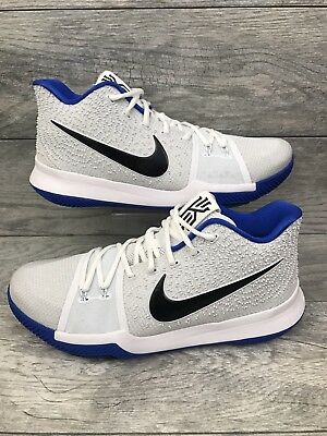d9d1babfef0e Nike Kyrie 3 Duke Brotherhood Mens Size 12.5 Cobalt Basketball Shoes  852395-102