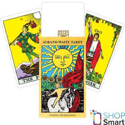 Albano Waite Tarot Deck Cards Esoteric Telling Games Systems New
