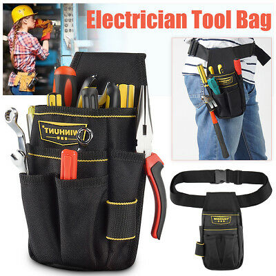 WINHUNT Electrician Waist Pocket Tool Belt Screwdriver Utility Holder Pouch Bag