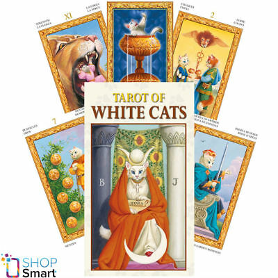 Mini Tarot Of White Cats Cards Esoteric Fortune Telling Lo Scarabeo New