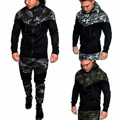 Sports Men's Jogger Fitness Workout Tracksuit Hoodie Bottoms Pants Trousers